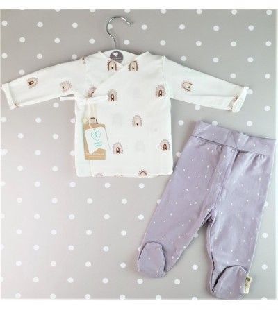 Conjunto de algodón con polaina Happy days 2